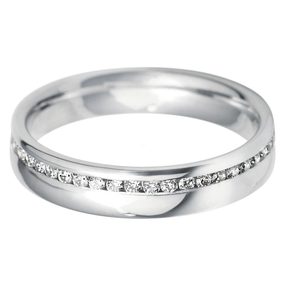 Lyra Offset Full Diamond Eternity Band Shining Diamonds
