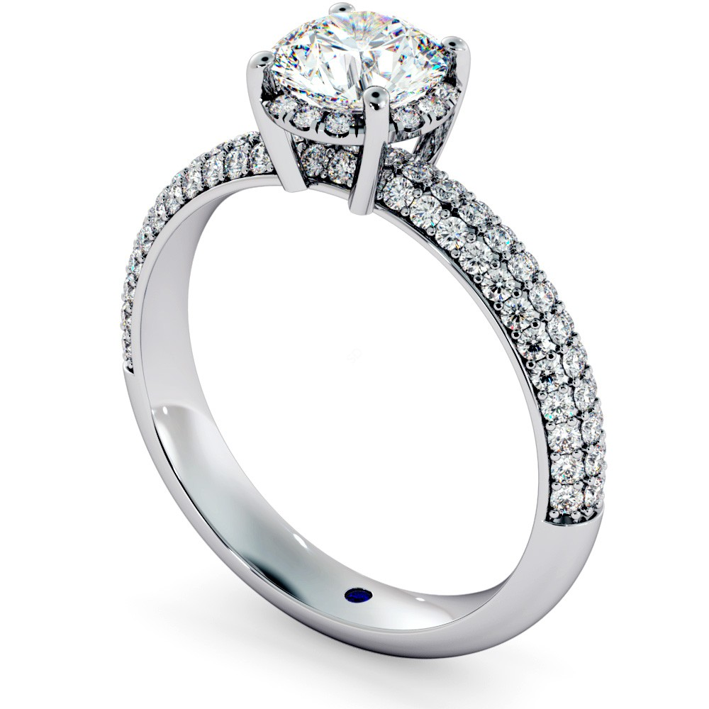 Hrrsd698 Micro Pave Halo Diamond Ring Shining Diamonds