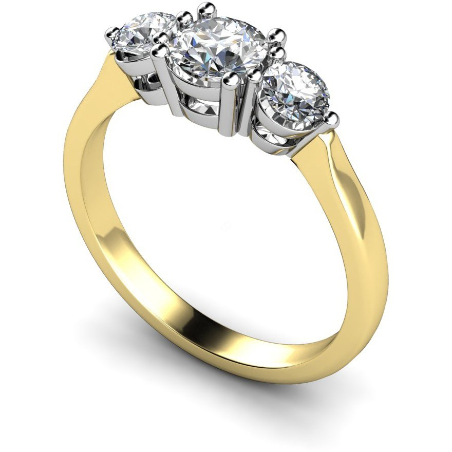 HRRTR112 Round 3 Stone Diamond Ring 3 Stone Engagement Rings Multi Stone
