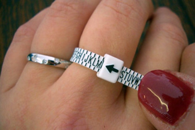 Ring Sizer for UK. Measures finger size A to Z - RING-SIZER-UK