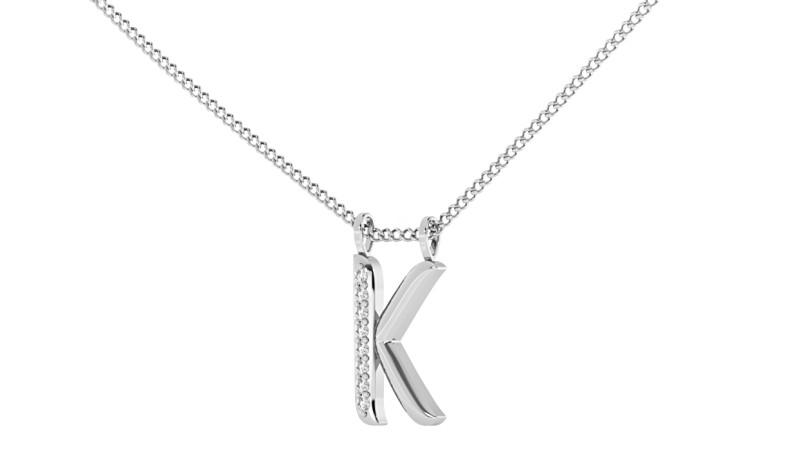 K Alphabet Pendant - HPRAK