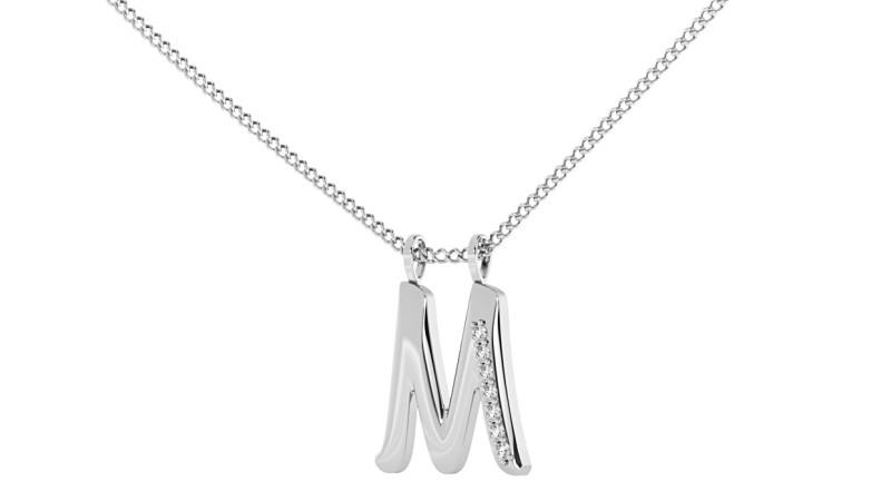 M Alphabet Pendant - HPRAM