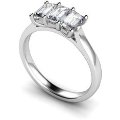 HRETR135 3 Emerald Diamonds Trilogy Ring