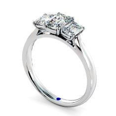 HRETR136 Emerald 3 Stone Diamond Ring