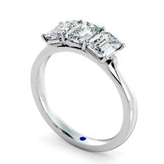 HRETR166 3 Emerald Diamonds Trilogy Ring