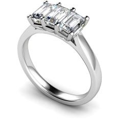 HRETR172 3 Emerald Diamonds Trilogy Ring