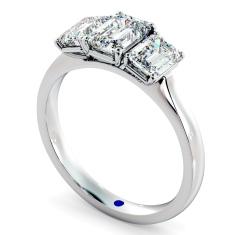 HRETR183 Emerald 3 Stone Diamond Ring