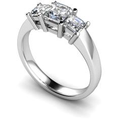 HRPTR118 Princess 3 Stone Diamond Ring