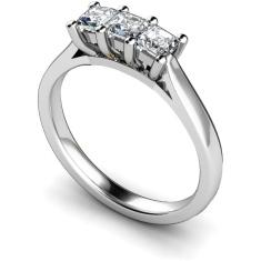 HRPTR131 3 Princess Diamonds Trilogy Ring