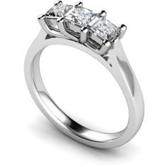 HRPTR139 Princess 3 Stone Diamond Ring