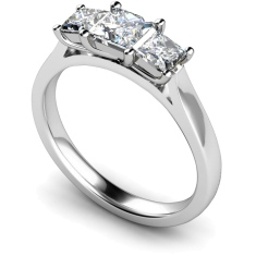 HRPTR151 Princess 3 Stone Diamond Ring