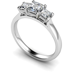 HRPTR155 Princess 3 Stone Diamond Ring