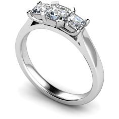HRPTR156 Princess 3 Stone Diamond Ring