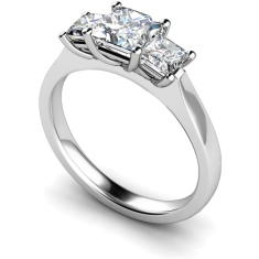 HRPTR163 Princess 3 Stone Diamond Ring