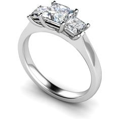 HRPTR163 Princess 3 Stone Diamond Ring
