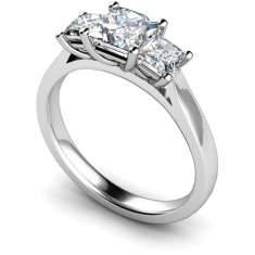 HRPTR168 Princess 3 Stone Diamond Ring