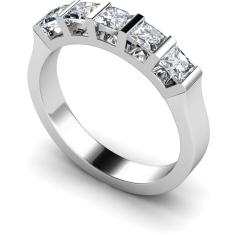 HRPTR210 Princess 5 Stone Diamond Ring