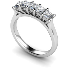 HRPTR214 Princess 5 Stone Diamond Ring