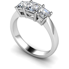HRPTR89 Princess 3 Stone Diamond Ring