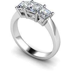 HRPTR89 Princess 3 Stone Diamond Ring