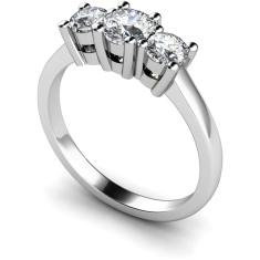 HRRTR102 Round 3 Stone Diamond Ring
