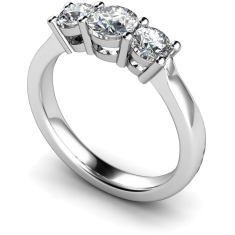 HRRTR104 Round 3 Stone Diamond Ring