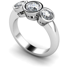 HRRTR108 Round 3 Stone Diamond Ring