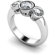HRRTR108 Round 3 Stone Diamond Ring