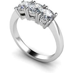 HRRTR111 3 Round Diamonds Trilogy Ring
