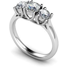 HRRTR119 Round 3 Stone Diamond Ring