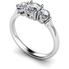 HRRTR121 Round 3 Stone Diamond Ring