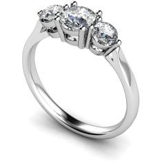 HRRTR121 Round 3 Stone Diamond Ring