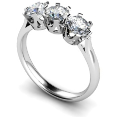 HRRTR127 3 Round Diamonds Trilogy Ring
