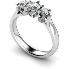 HRRTR128 Round 3 Stone Diamond Ring