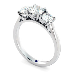 HRRTR167 Round 3 Stone Diamond Ring