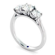 HRRTR167 Round 3 Stone Diamond Ring