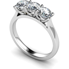 HRRTR177 3 Round Diamonds Trilogy Ring