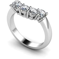 HRRTR204 Round 5 Stone Diamond Ring