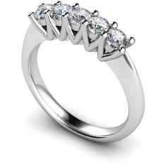 HRRTR213 Round 5 Stone Diamond Ring