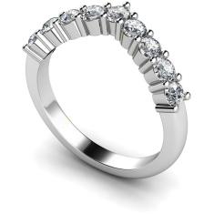 HRRTR229 Round 9 Stone Diamond Ring
