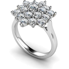HRRTR240 Round Cluster Diamond Ring
