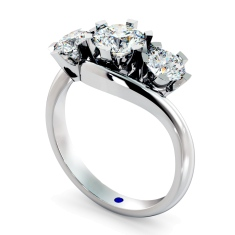 HRRTR258 Round 3 Stone Diamond Ring
