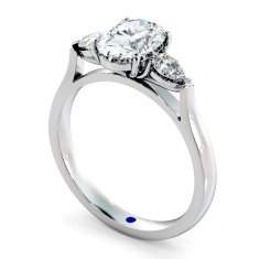 HRXTR146 Oval & Pear 3 Stone Diamond Ring