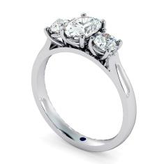 HRXTR170 Oval & Round 3 Stone Diamond Ring