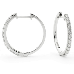 HER153 Round cut Diamond Earrings - white