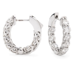 HER156 Round cut Designer Diamond Drop Earrings - white