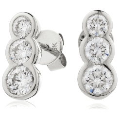 HER216 Trilogy Journey Diamond Earrings - white