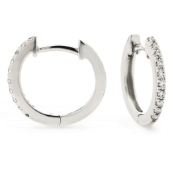 HER150 Round cut Drop & Hoop Diamond Earrings - white