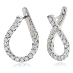 HER152 Brilliant cut Drop Diamond Earrings - white