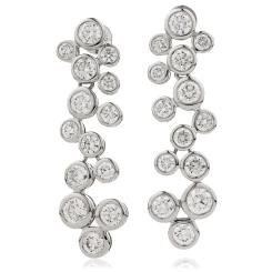HER215 ZigZag Diamond Drop Earrings - white